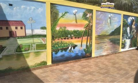 Um quintal de arte, por Nil e Mamede   Portal Obidense
