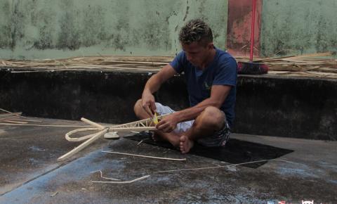 Artesãos obidenses utilizam Buriti para confeccionar os enfeites da Catedral de Sant'Ana