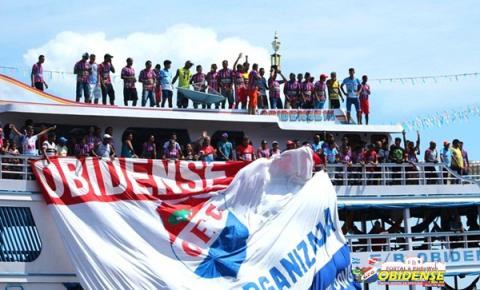 Torcedores obidenses lotam as ruas da cidade para comemorar a conquista do título da Copa Oeste