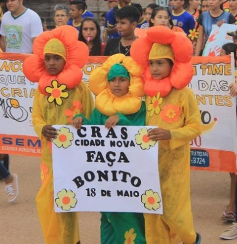 Em Óbidos, projeto Faça Bonito, realiza caminhada de 18 de maio. Um clamor a não exploração sexual de crianças e adolescente