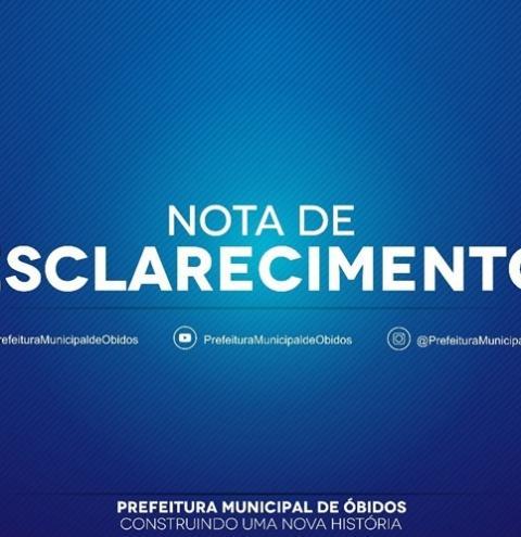 Prefeitura de Óbidos emite nota acerca da mudança da sede da semed