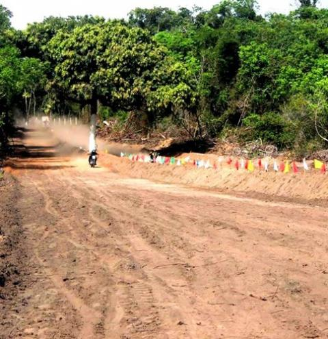 Prova de arrancadão de motos, reuniu comunidades de Óbidos e Oriximiná.