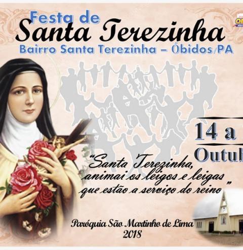 A comunidade do bairro de Santa Terezinha em Óbidos, inicia a festividade de sua padroeira.