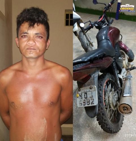 Mais uma moto recuperada pela polícia Civil de Alenquer na noite de quinta-feira (24)