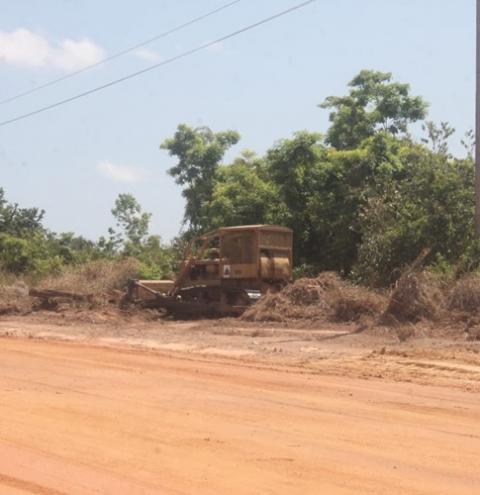 Serviços de terraplenagem iniciam na PA 437, em Óbidos   Portal Obidense