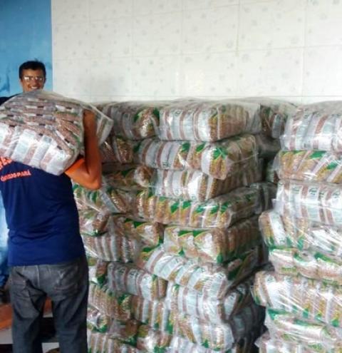 Defesa Civil de Óbidos recebe material para doação em cestas básicas | Portal Obidense