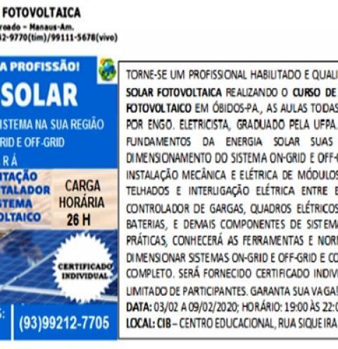 Oportunidades em Óbidos, Curso de instalador de painéis solares, um mercado promissor | Portal Obidense
