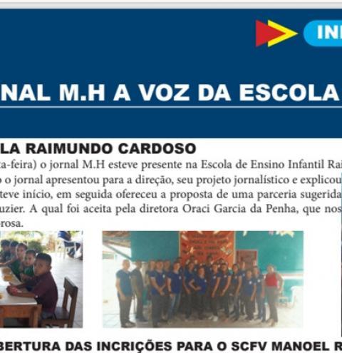 Notícia semanal, escola Maurício Hamoy e o projeto Jornal M.H | Portal Obidense