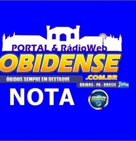 Comarca de Óbidos emite nota pelo falecimento do Sgt. PM. J. Ribamar   Portal Obidense