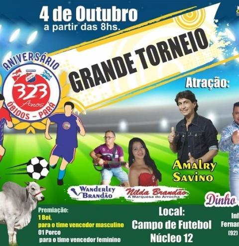 Comidas típicas, Show Musical, jogos e torneio de pênalti, fazem parte da comemoração aos 323 anos de Óbidos em Manaus | Portal Obidense