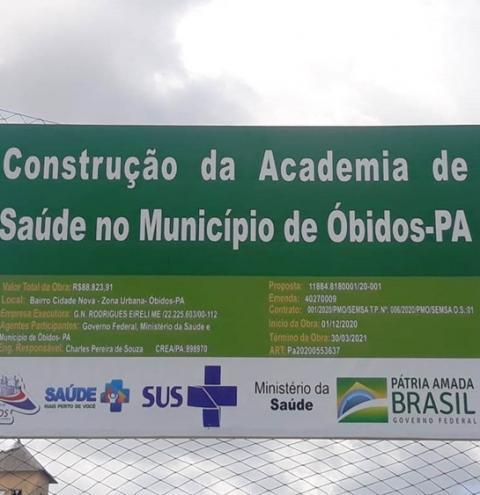 Prefeito de Óbidos fala sobre obra na quadra poliesportiva do sagrado   Portal Obidense
