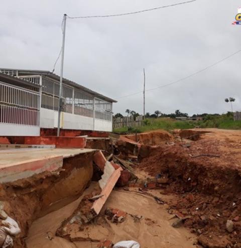 Defesa Civil estadual realiza vistoria nas ruas afetadas pelas chuvas em Óbidos   Portal Obidense