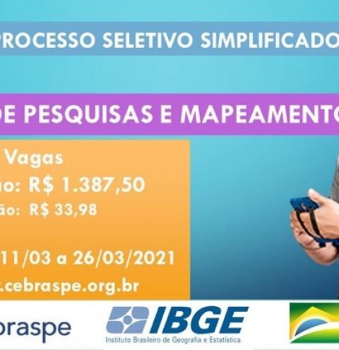 IBGE oferece vagas temporárias para função de agente de pesquisas e mapeamento em Óbidos | Portal Obidense