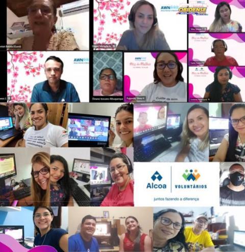 Alcoa encerra programação do mês da mulher com ação voluntária destinada à AMTJU