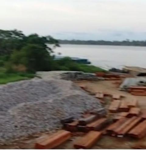 Operação contra desmatamento, Batalhão Ambiental apreende maior carga de madeira ilegal neste ano no AM | Portal Obidense