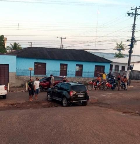 Acidente na rua Antônio Brito de Souza em Óbidos | Portal Obidense