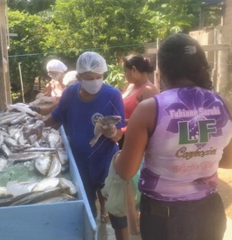 Pastoral da Criança realiza entrega de pescado as famílias cadastradas   Portal Obidense